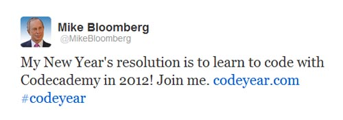 Thị trưởng thành phố New York là Bloomberg học lập trình.
