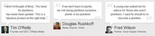 Một số người nổi tiếng đang khuyên các bạn trẻ nên học kỹ năng sửa ống nước.