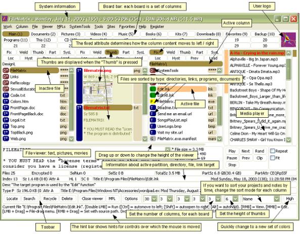 """Giao diện """"trực quan và dễ sử dụng"""" của phần mềm The FileMatrix"""